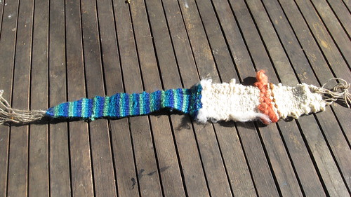 Tom's first weaving project