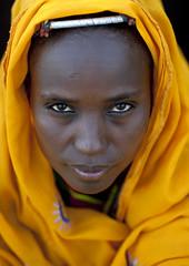 Veiled Gabbra woman - Kenya (Eric Lafforgue) Tags: africa portrait people face kenya culture tribal human tribes afrika tradition tribe ethnic ramadan kenia tribo gens visage headdress afrique headwear ethnology headgear tribu eastafrica 6310 msulim qunia islma lafforgue ethnie  qunia    kea    humainpersonne a