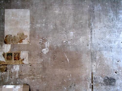 wall of an artist's studio