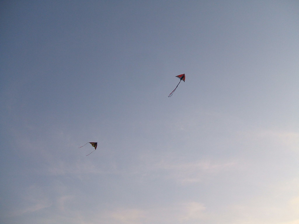 Kite chase at Golden Gardens
