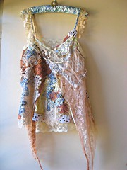 Free Spirit Floaty Ethereal Top (AllThingsPretty) Tags: blue brown white vintage gold dance lemon beige hand natural lace antique metallic cream silk free polka soul etsy collar dots spiritual pure applique beaded dyed tatted