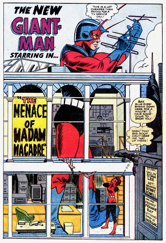 Splash page of Giant-Man story in Tales to Astonish #66 (April 1965), by Stan Lee and Bob Powell