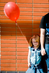 with my brother (*brit*girl*) Tags: balloon daisy holdinghands kal