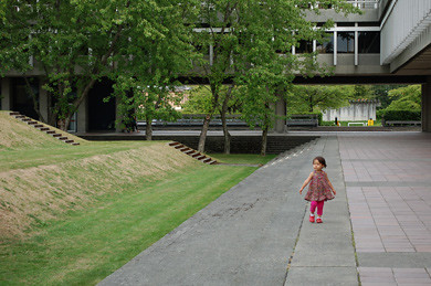 little girl on campus by you.