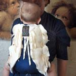 Angel Wings Baby Wrap Sling Pure Indigo Cotton with Microplush and Cotton Fleece Wings slightly padd