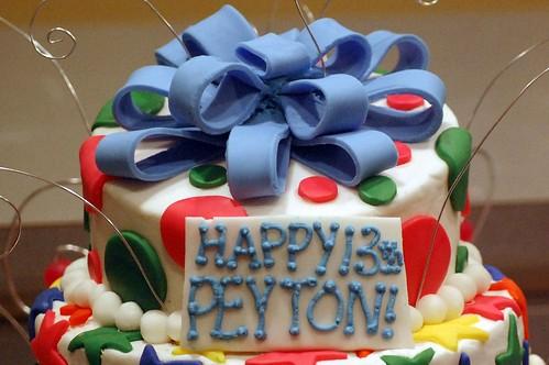 Peyton's Topsy Turvy Cake