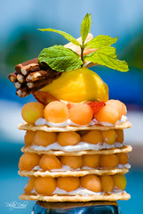 LAYER FRUITS (Philip Delos Photography) Tags: food france fruit dessert photography fineart mint layer caribbean melon culinary guadeloupe menthe pointeapitre philipdelos