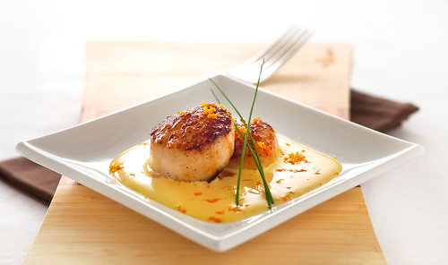 Scallops in Orange Saffron Aioli