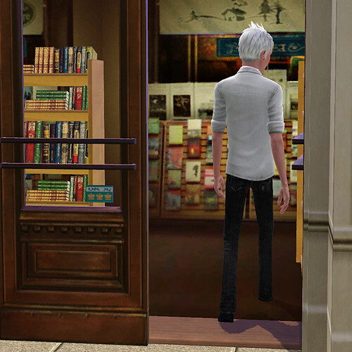 Ghost visits the bookstore