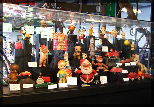Akron History Museum - Display of rubber toys, dolls and cars