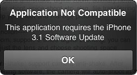 application not compatible