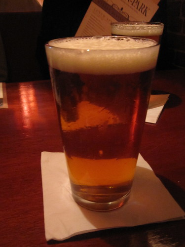 Pint of Harpoon at the Black Horse Tavern