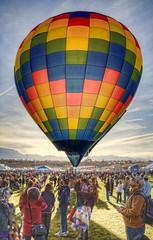 Morning glow (JoelDeluxe) Tags: hot newmexico balloons air hotair balloon albuquerque hotairballoon nm joeldeluxe 2009 hdr aibf albuquerqueinternationalballoonfiesta