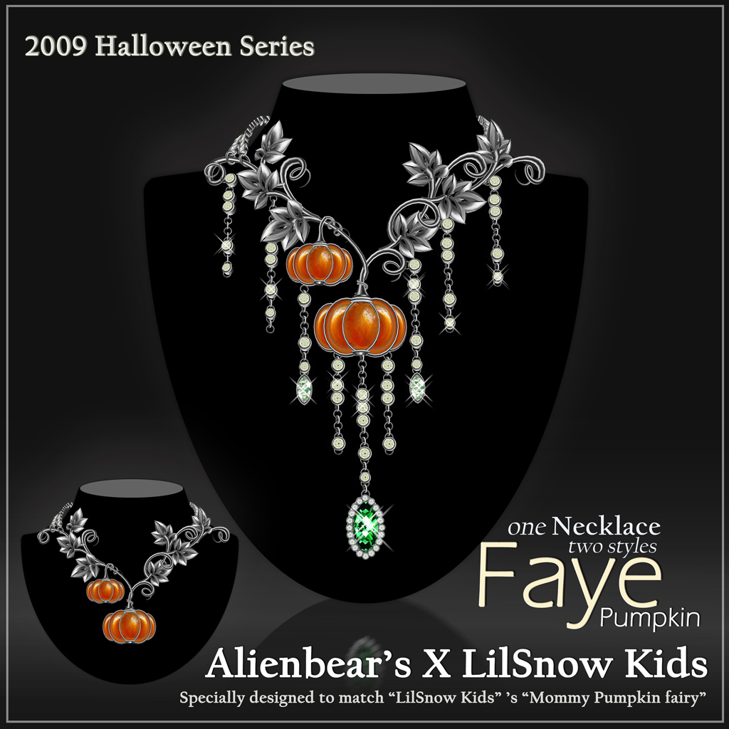 Faye Pumpkin necklace