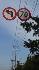 Turn left (Su - oh - Su) Tags: china poles shenyang trafficsigns telephonewires noleftturn under70