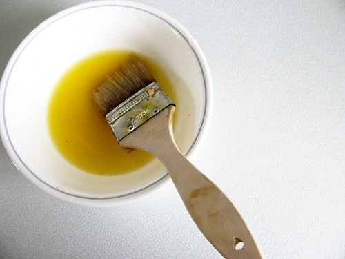 Melted margarine for brushing