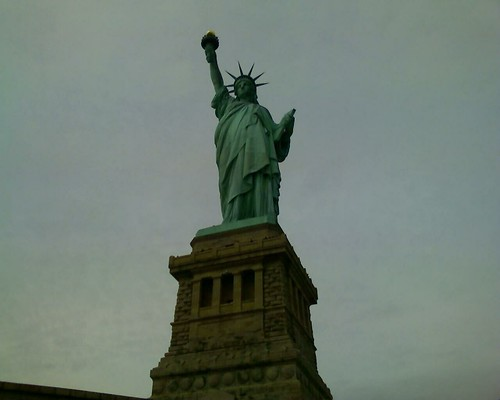 Miss Liberty on Columbus Day