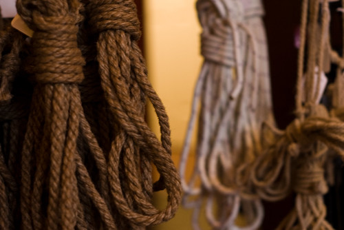 Shibari ropes at Wicked Grounds