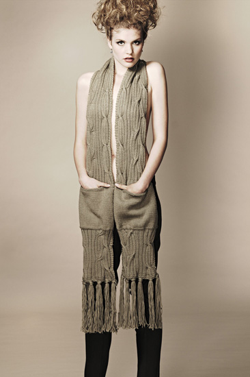 Studio Fashion Knitwear Photography Sydney, Long Scarf with Pockets