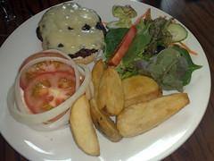 Beef burger at Leith Lynx, Edinburgh