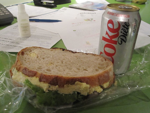 Egg sandwich from Cartet, Diet Coke - $1.25