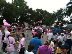 Walk for Cancer - it's raining!
