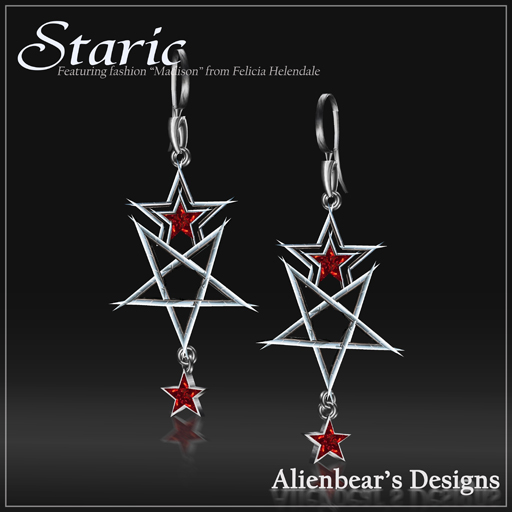 staric red earrings