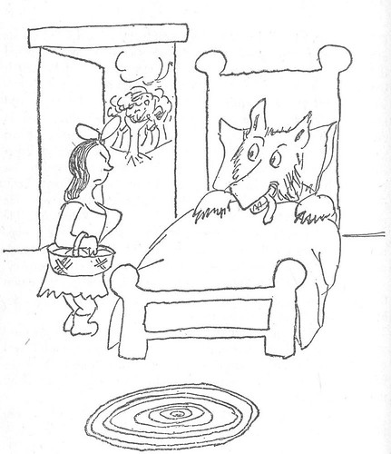 The Girl and the Wolf by James Thurber