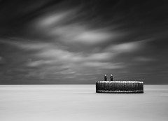 Calm Boca Morning (Chad Galloway Photo) Tags: ocean longexposure morning travel sea blackandwhite bw beach water clouds florida sony calm fullframe dslr bocagrande cloudmovement daytimelongexposure a850 nd110