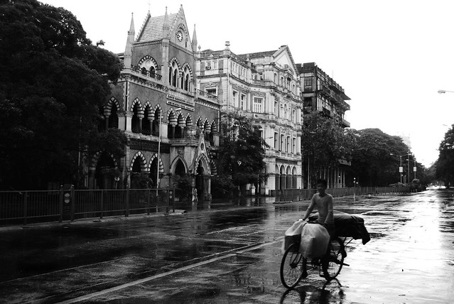 Off to work - Mumbai street post rain
