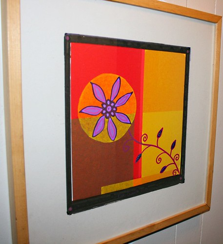 "Sun-flower 18"" x 18"" by Rick Cheadle Art and Designs"