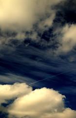 DSC_0047 (luke_wes) Tags: blue sky white clouds plane nikon random line d3000 cloudslightningstorms