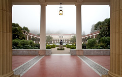 Getty Villa Fog (ken mccown) Tags: architecture malibu gettyvilla