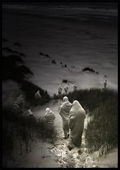 secrets (biancavanderwerf) Tags: people strange dark scary sand dunes row fabric bianca cloth sect secrets mystic dreamcatcher mensen doeken creattivit graphicmaster truthandillusion
