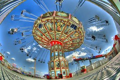 An Almost Empty Swing (Shawn O'Connell Photography) Tags: circle nikon texas spin swing fisheye explore round rides midway hdr fortworth stockshow d90 almostempty fortworthstockshow top20texas bestoftexas shawnoconnell shawnoconnellphotography