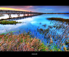 Bolsa Chica (SMGallery (MooreFoto.com)) Tags: bridge sunset water colors reflections nikon sigma adobe 1020mm hdr bolsachica d300 cs3 sigma1020mm tonemapped 5exp photoshopcs3 smgallery nikond300 vosplusbellesphotos photomatixpro31