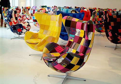patchwork egg chairs tal r