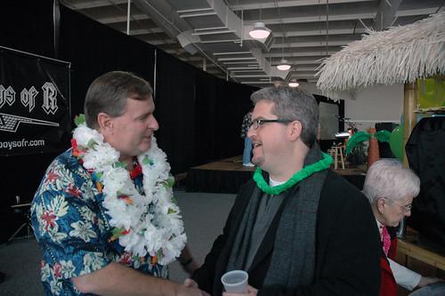 Indianapolis Mayor Greg Ballard and Salvation Army Development Director, Jeff Stanger