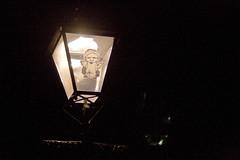 Angelic light (chrisdonia) Tags: street light angel night sticker edinburgh 09 wee guessed 2009 whereedin revoltoidwon