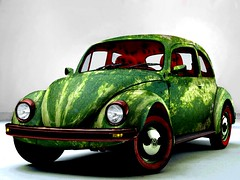 watermelon Fusca (.Rungue) Tags: verde green car watermelon melancia beatle carro fusca photoshopcreativo