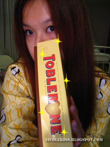 toblerone in my hand