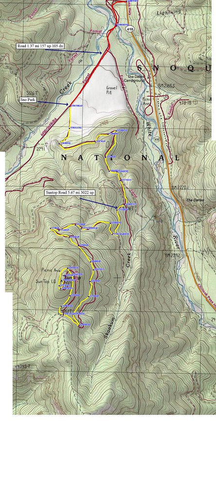 SunTop Lookout route