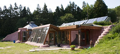 Brighton Earthship Front / Right Elevation