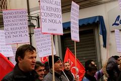 Manifestazione contro la Fiat @ Pomigliano