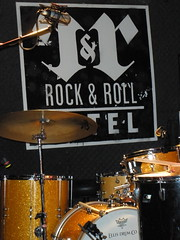 Setting up at Rock and Roll Hotel