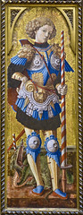 St George, Carlo Crivelli about 1470 (Tiz_herself) Tags: ny newyork art dragon museums stgeorge themet array religiousart
