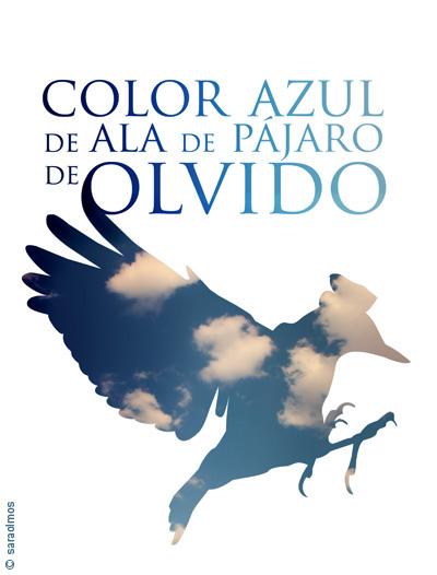 Color azul de ala de pájaro de olvido