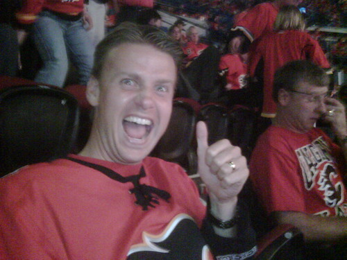 Sean at the Flames Game