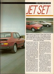 Sports Saloons Test BMW 325i & SAAB 900 Turbo 1986 (2) (Trigger's Retro Road Tests!) Tags: test sports car magazine turbo bmw april what 1986 325i saab 900 saloons