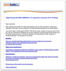 Careerbuilder.com fraud email